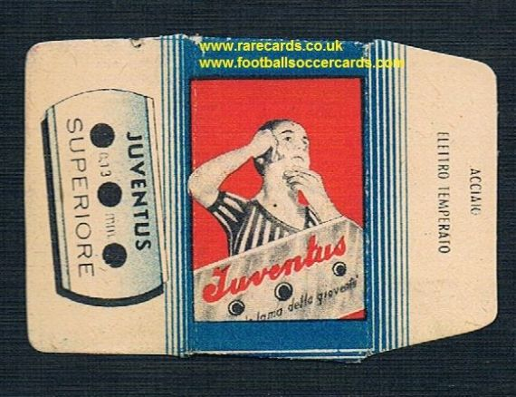 1950's Juventus razor blade wrapper and original blade